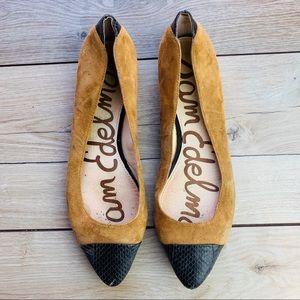 Sam Edelman   Brown Suede, Leather tip, Size 8.5
